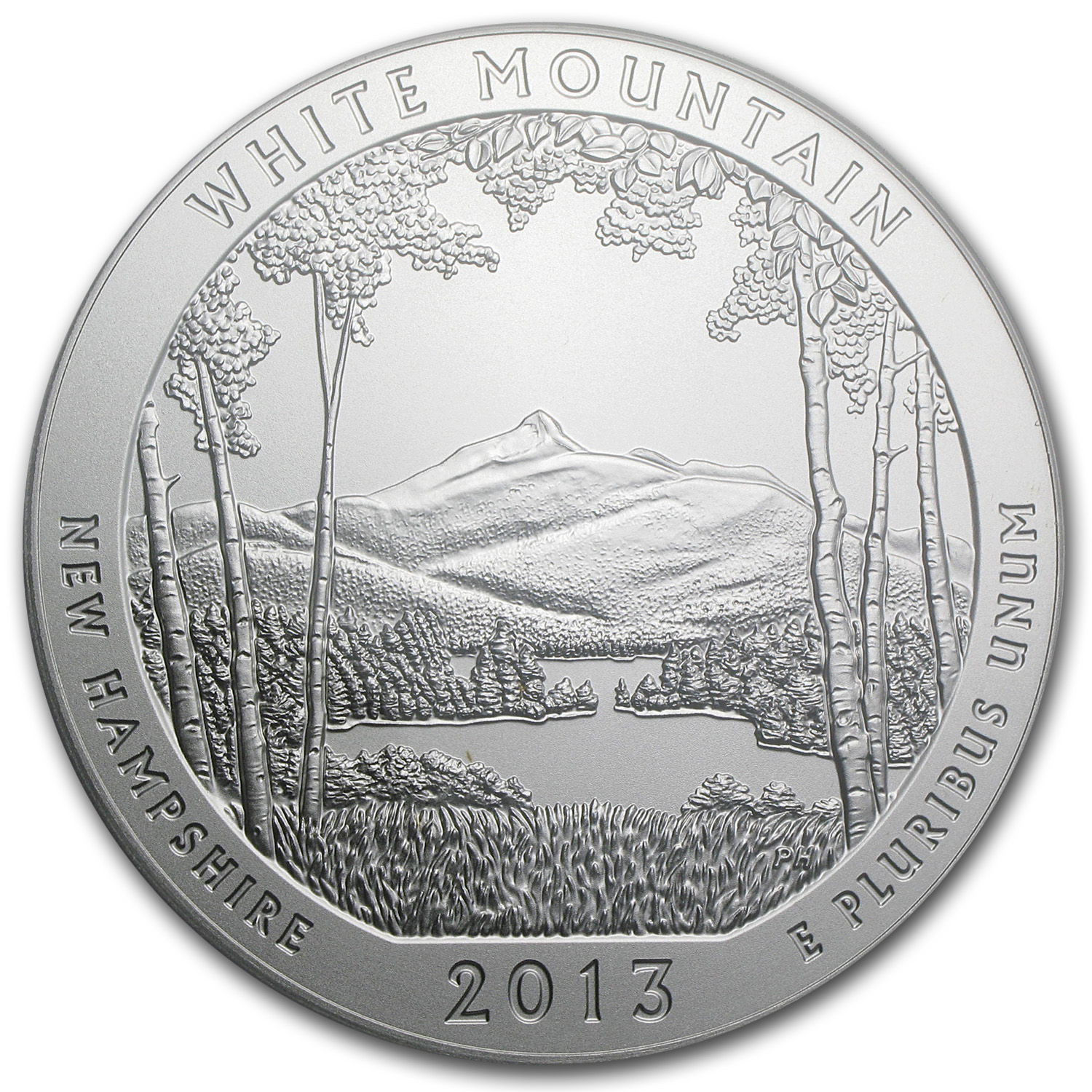 2013-P 5 oz Silver ATB White Mountain SP-69 PCGS (FS, Mercanti)